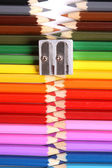 Colored pencil zipper — Photo