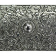 Metal engraved texture — Stock Photo