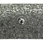 Metal engraved texture — Stock Photo #1925385
