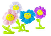 Group of smiling flowers — Stock Photo