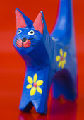 Close-up of painted cat — Stock Photo