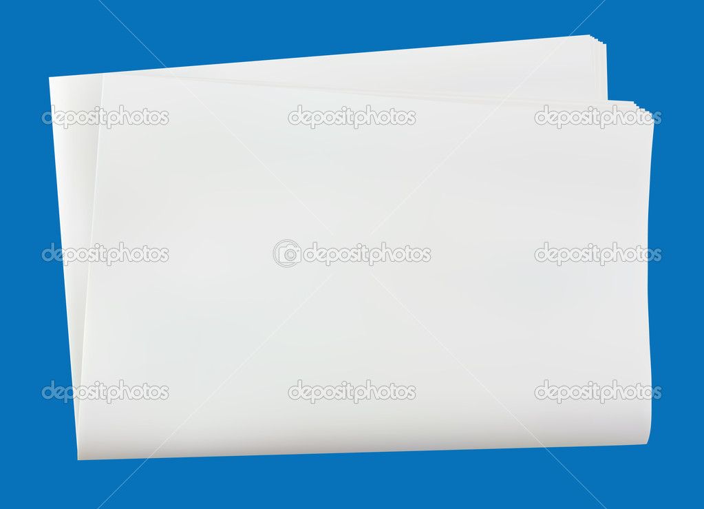 Folded newspaper simulation of reality and isolated — Stock Photo #1925820