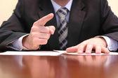 подробности встречи бизнес — Стоковое фото