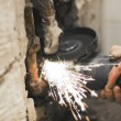 Angle grinder in use — Stock Photo #1982565