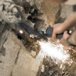 Angle grinder in use — Stock Photo #1982792