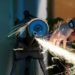 Angle grinder in use — Stock Photo #1983162