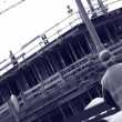 Building construction site — Stock Photo