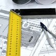 Home architectural plans — Stockfoto