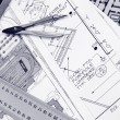 Home architectural plans — Stock Photo #1985236