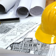 Home architectural plans - Foto Stock
