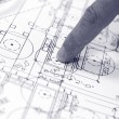 Foto Stock: Home architectural plans