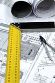 Dom planów architektonicznych — Zdjęcie stockowe