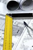 Huis architecturale plannen — Stockfoto