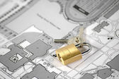 Huis verzekering en beveiliging — Stockfoto