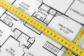 Home architectural plans — Stock Photo