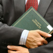 Lawyer holding a book — Stock Photo