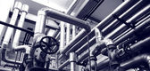 Sistemas de gas y petróleo industrial — Foto de Stock
