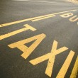 Bus and taxi street signs — Stockfoto #2521502