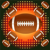 茶色のラグビーのボールと haftone — ストックベクタ