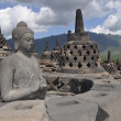 Borobudur Temple, Budda, Java, Indonesia — Stock Photo