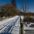 Foto Stock: Snowy road