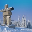 Inukshuk on Whistler mountain — Stock Photo