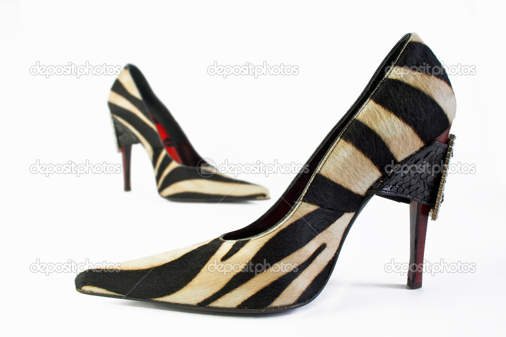 Two elegance and fashion shoes on white background — Stock Photo #1926345