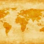 Old world map — Zdjęcie stockowe