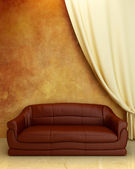 Interior design - Comfortable couch — Stock Photo