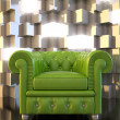 Stock Photo: Green seat