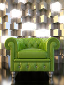 Green seat — Stock Photo