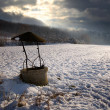 Stock Photo: Well in snow land