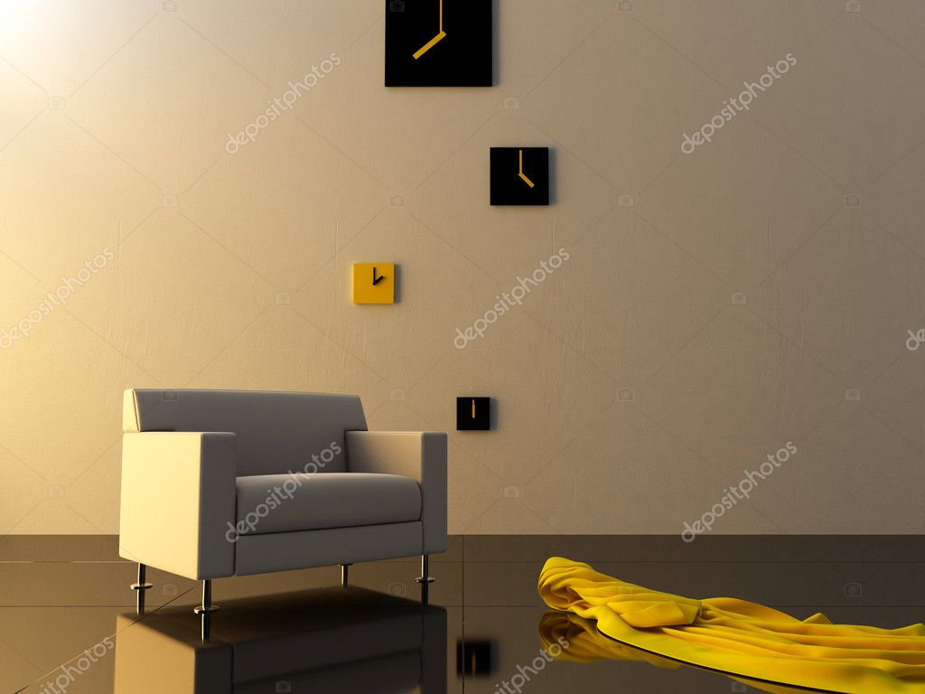 Time zone clock on modern room — Stock Photo #2052641