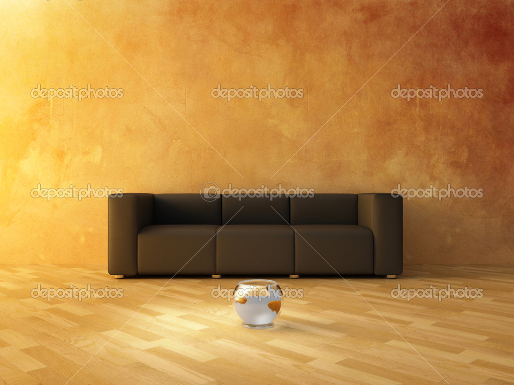 Interior - Sofa and Fish  — Stock Photo #2067710