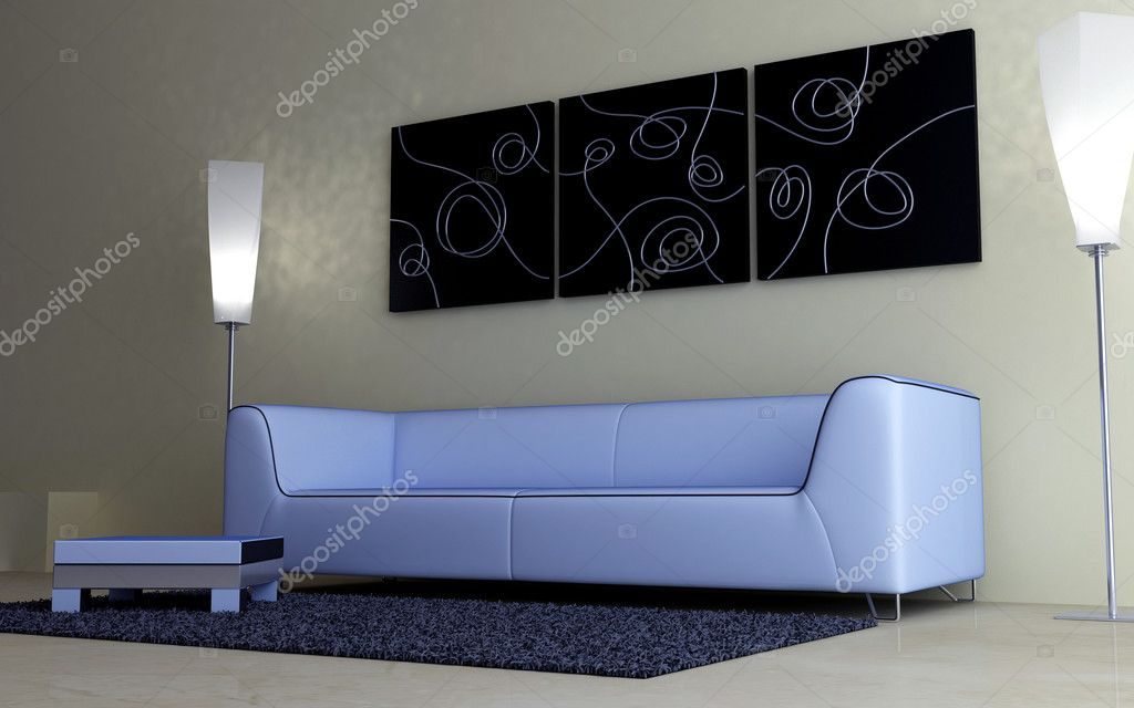 Interior design - Modern furnishings — Stock Photo #2068596