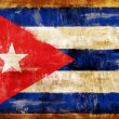 CUBA old painted flag - Stock Photo