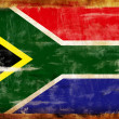 South Africa old painted flag — Stock Photo