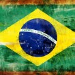 Stock Photo: Brazil old painted flag