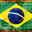 Brazil old painted flag - Stock Photo