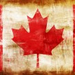 Canada old painted flag — Stock Photo