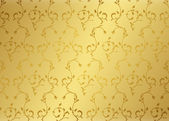 Damask background gold — Stockfoto
