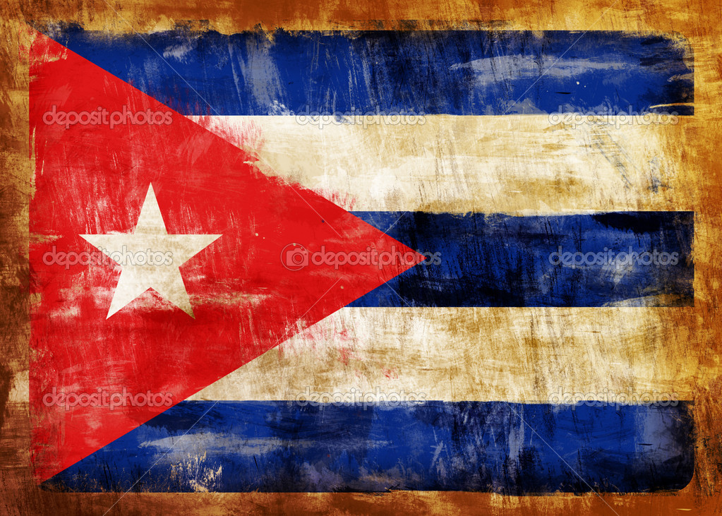 Old and dirty Cuba flag painted — Stock Photo #2095795