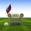 Slovakia soccer fun - Stock Photo
