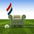 Holland soccer fun — Stock Photo
