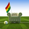 Ghana soccer fun - Stock Photo