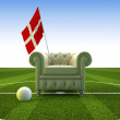 Denmark soccer fun - Stock Photo