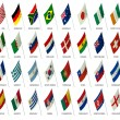 Soccer team flags world cup 2010 - Stock Photo