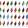 Soccer team flags world cup 2010 — Stock Photo