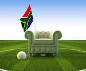 South africa soccer fun — Stock Photo