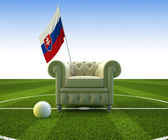 Slovakia soccer fun — Stock Photo